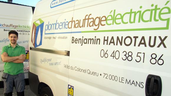 Benjamin Hanotaux, un Artisan qualifié pour vous servir!